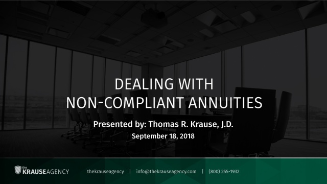 Dealing with Non-Compliant Annuities