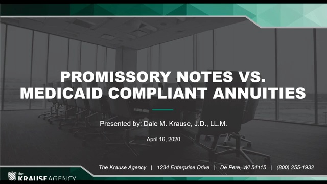 Medicaid Compliant Annuities vs. Promissory Notes