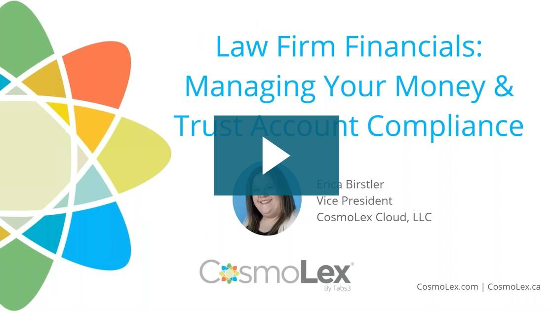 Law Firm Financials: Managing Your Money & Trust Account Compliance