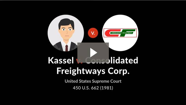 Kassel v. Consolidated Freightways Corp.