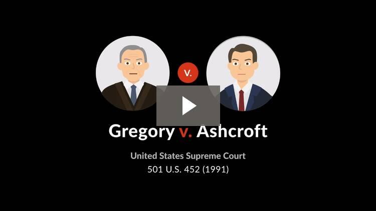 Gregory v. Ashcroft