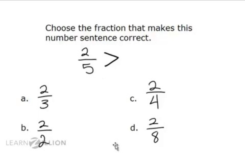 Guided Practice For Compare Fractions With The Same Numerator