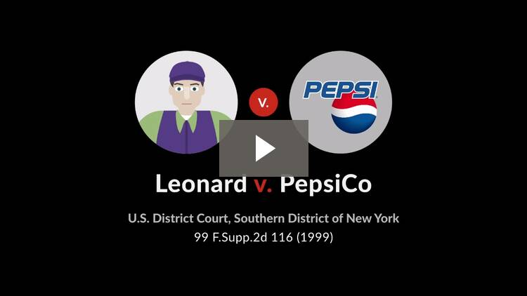 Leonard v. Pepsico