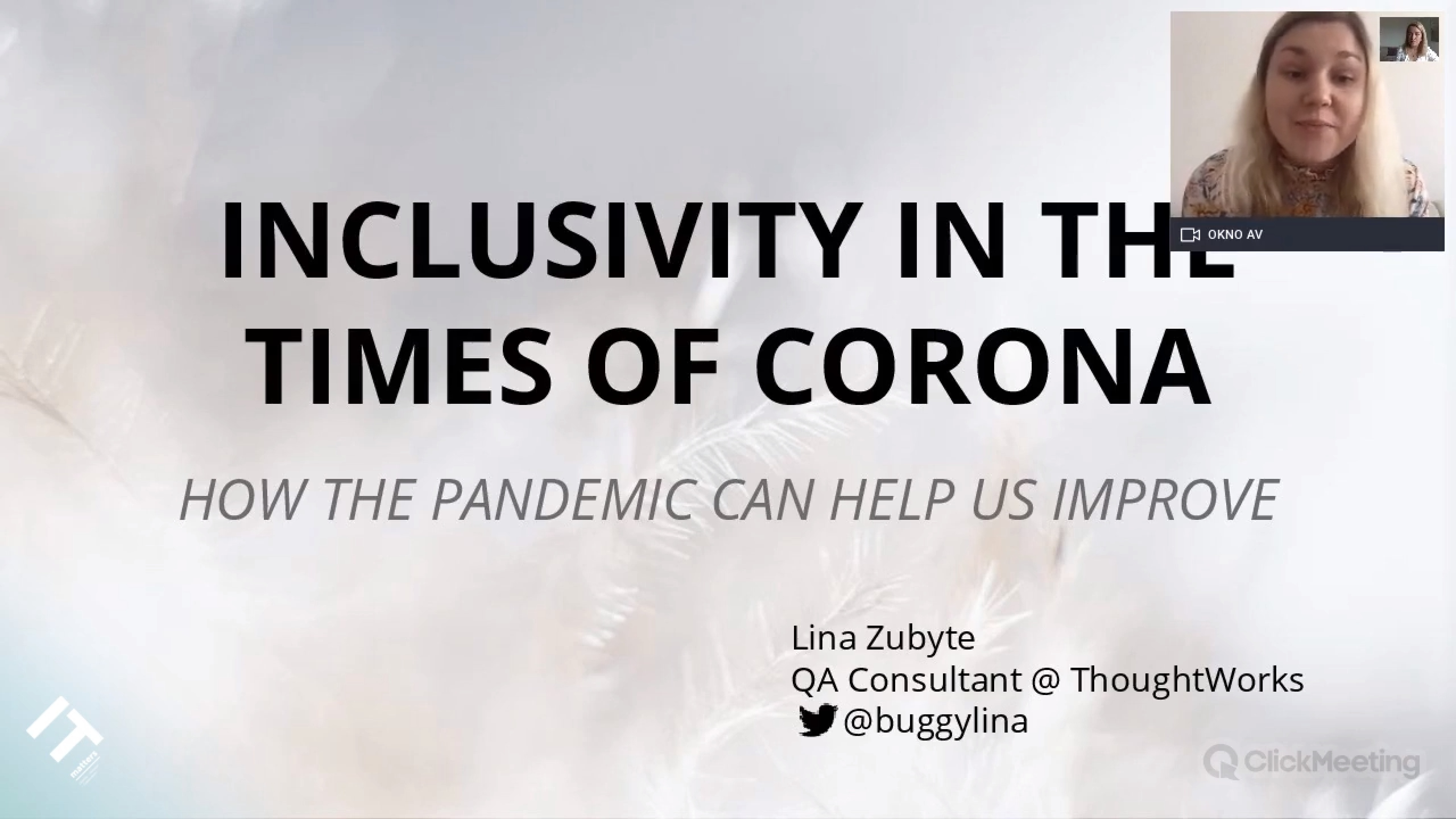 Inclusivity in the Times of Corona - Lina Zubyte
