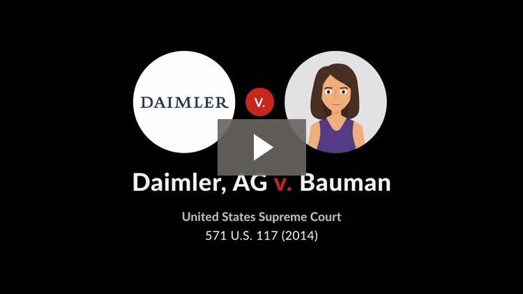 Daimler AG v. Bauman