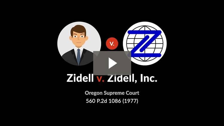Zidell v. Zidell, Inc.