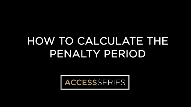 How to Calculate the Penalty Period