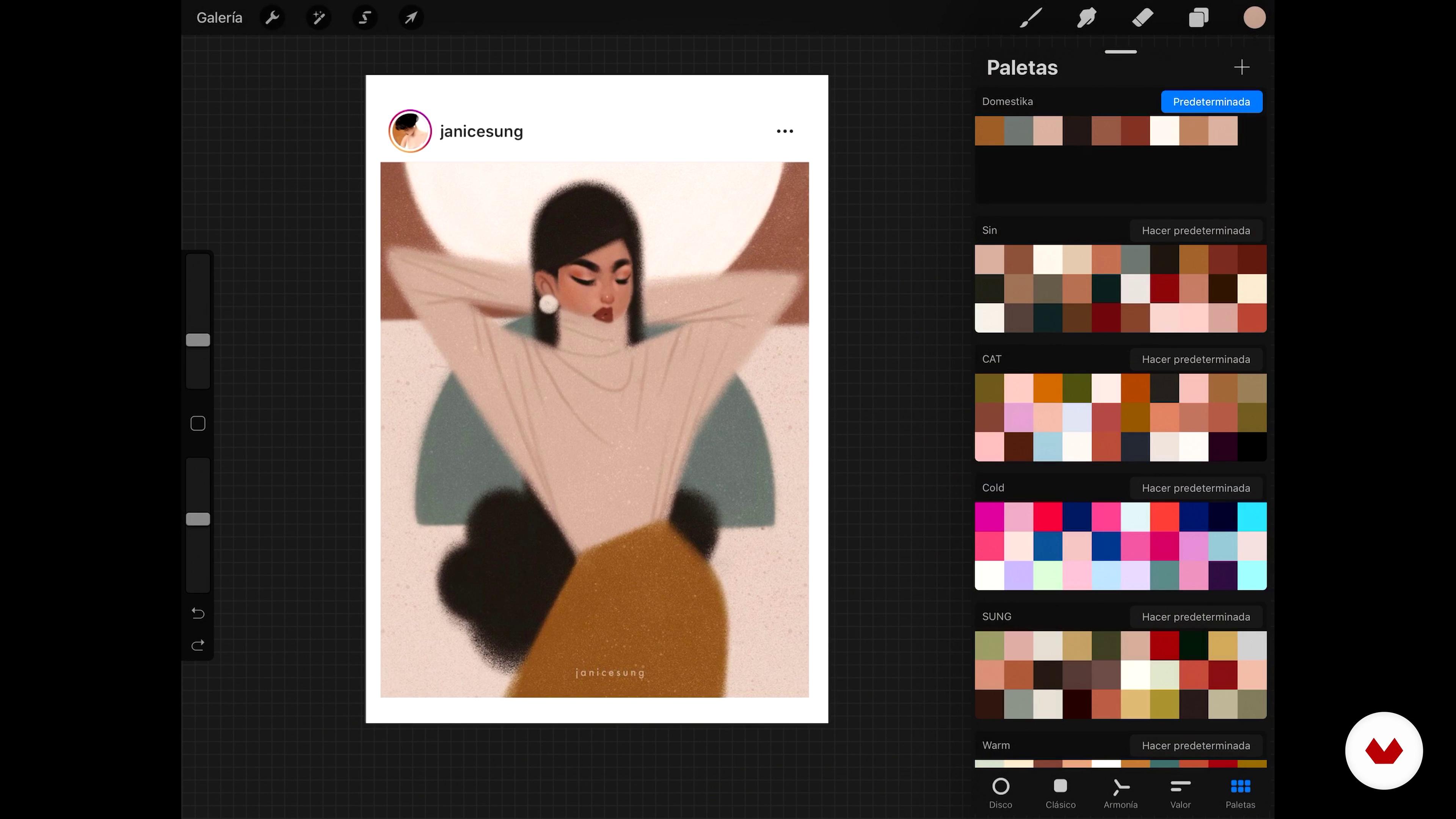 Paletas De Cores Em Procreate Retrato Ilustrado Com Procreate Elena Garnu Domestika