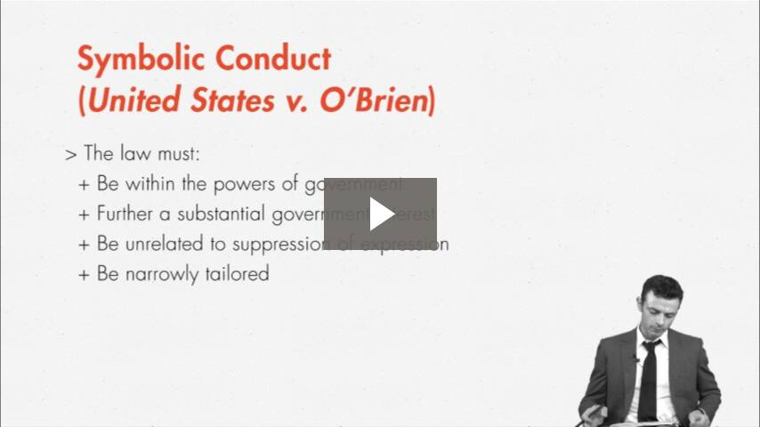 Conduct, Symbolic Conduct, and Pure Speech