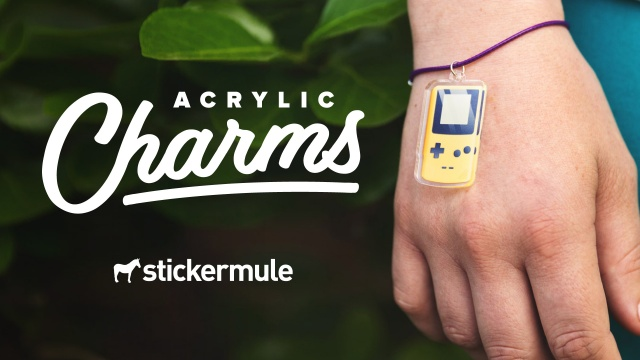 Test Tube Acrylic Charm For Bracelet Wristlet Miniblings Laboratory Acrylic Chemistry Neon