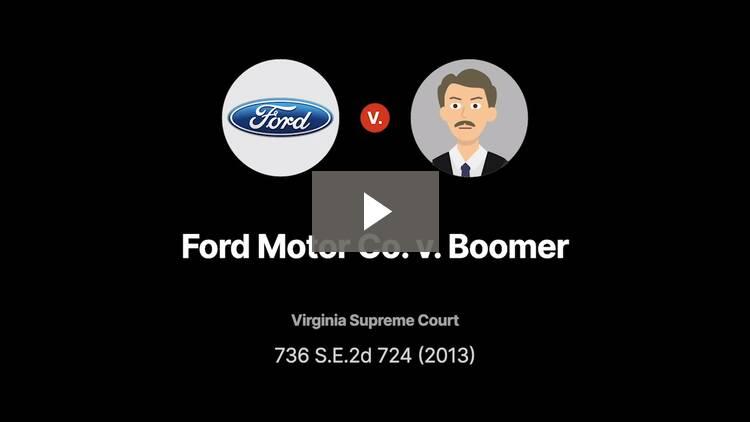 Ford Motor Co. v. Boomer
