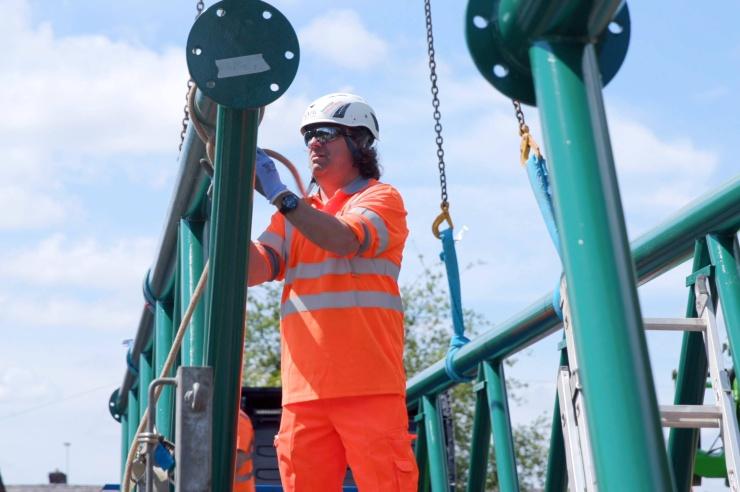 Installation of New Footbridge over East Lancs Railway in Heywood