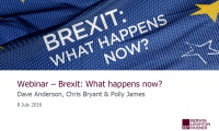 Still image from 'Webinar - Brexit: what happens now?' video