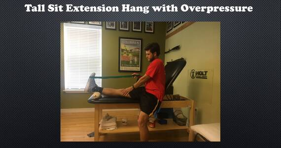 How to obtain full extension after knee surgery