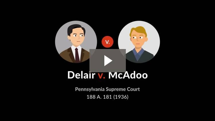 Delair v. McAdoo