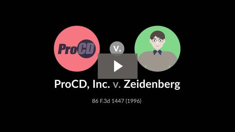 ProCD, Inc. v. Zeidenberg