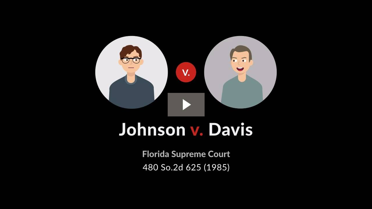 Johnson v. Davis