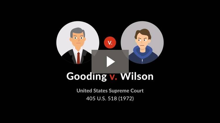 Gooding v. Wilson