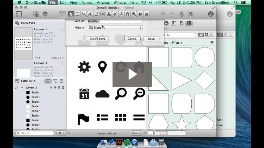 Creating OmniGraffle stencils from Illustrator files