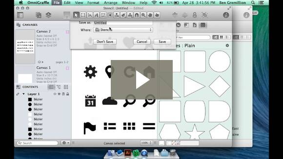 Creating OmniGraffle stencils from Illustrator files