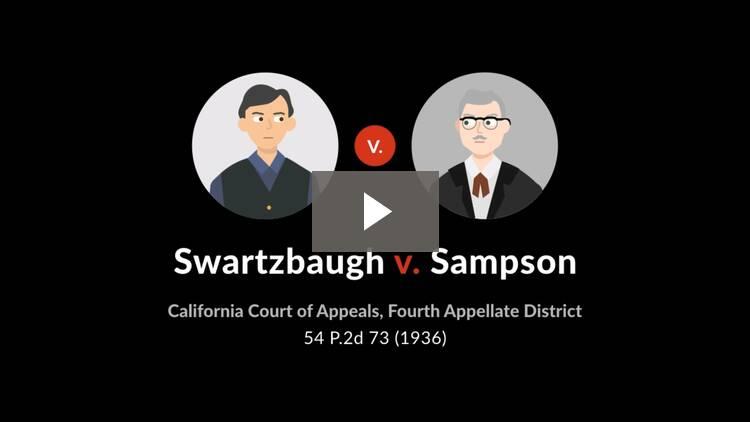 Swartzbaugh v. Sampson