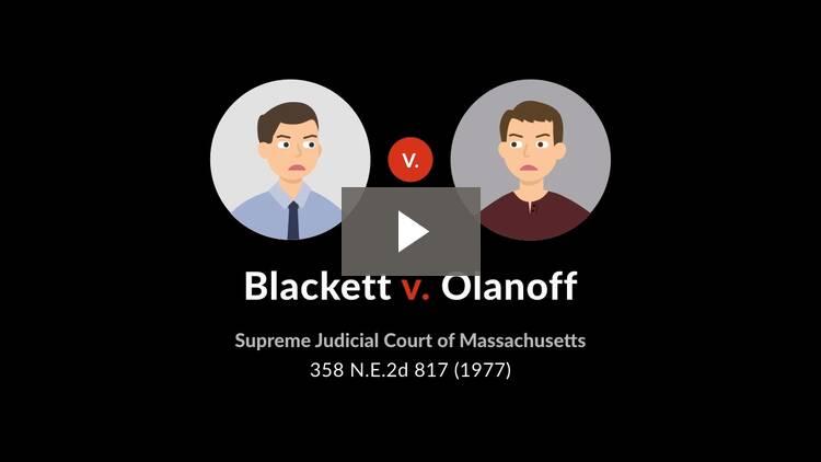 Blackett v. Olanoff