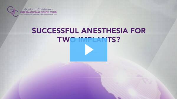 Q215 Successful anesthesia for two implants?
