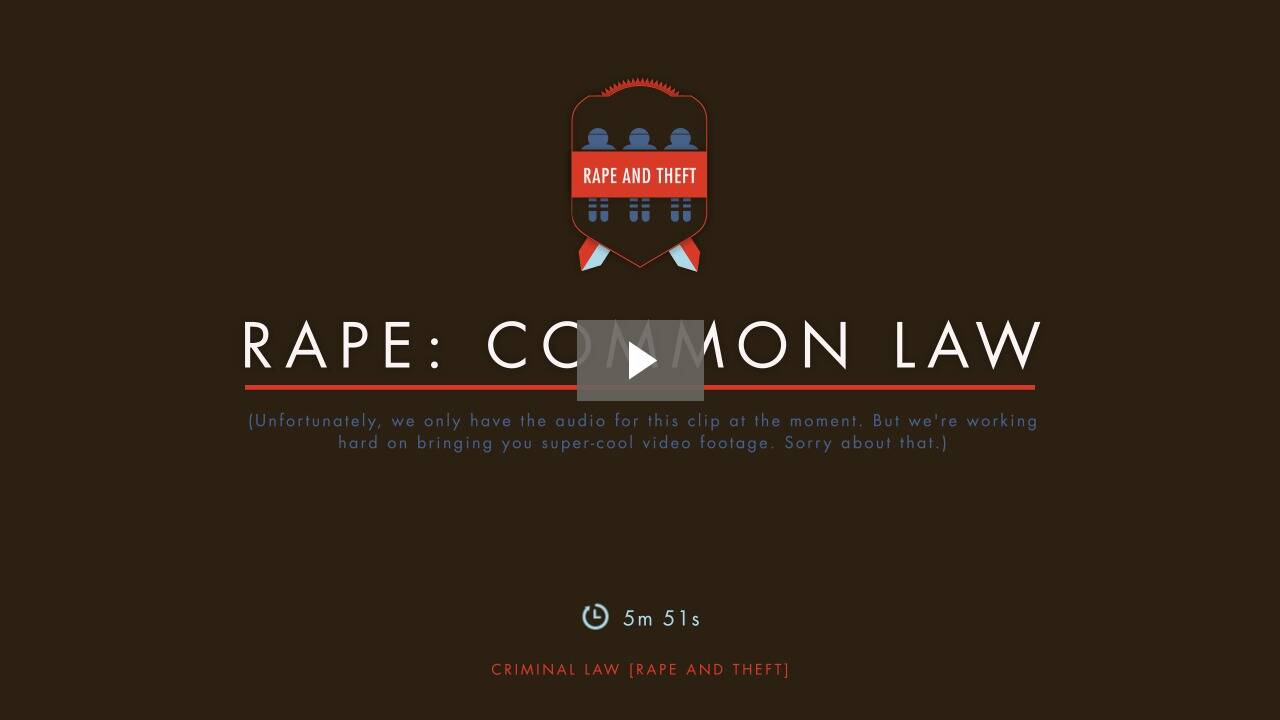 Rape and the Common Law