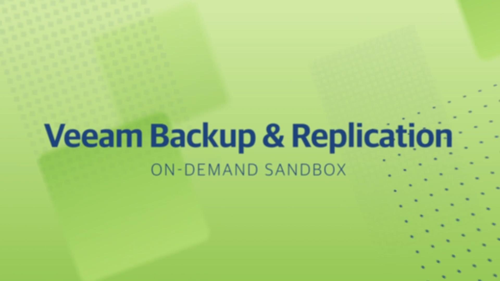 Product launch v11 - VBR - On-Demand Sandbox