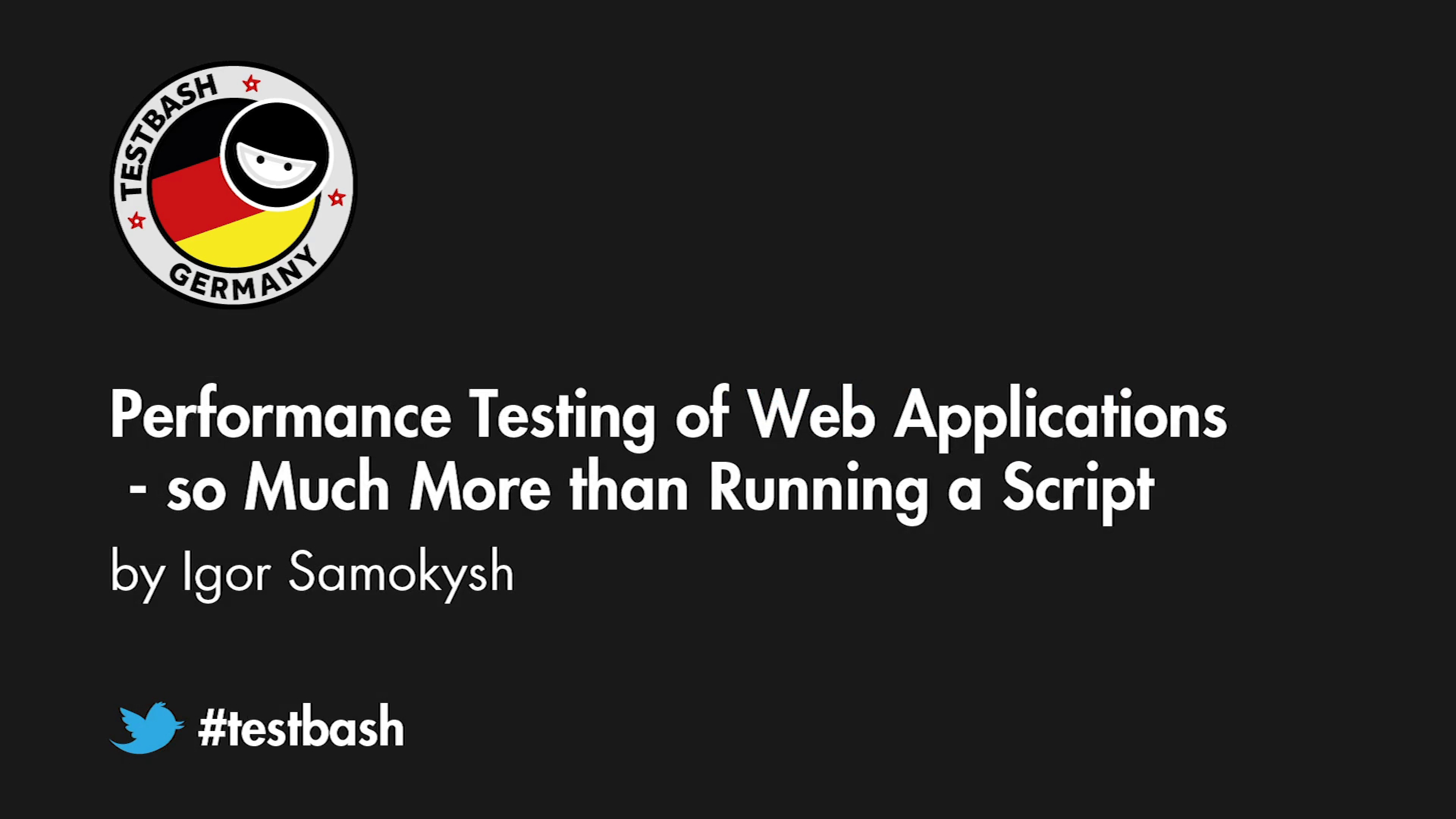 Performance Testing of Web Applications: So Much More than Running a Script - Igor Samokysh