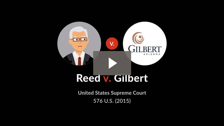 Reed v. Town of Gilbert