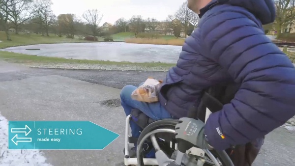NuDrive Air Propulsion Levers for Wheelchair Users