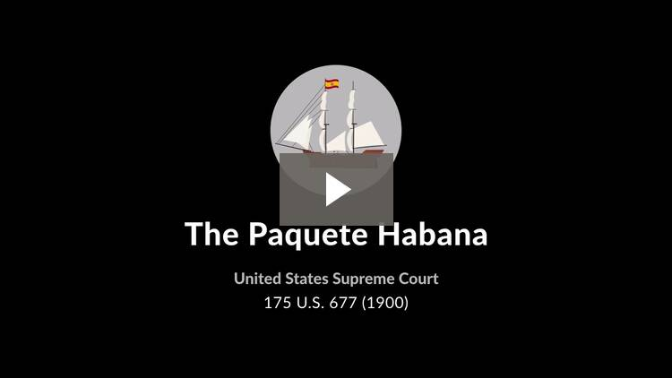 The Paquete Habana