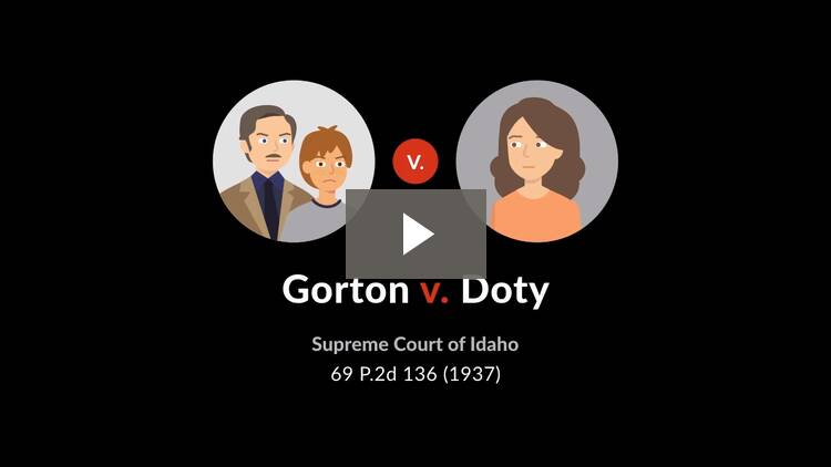 Gorton v. Doty