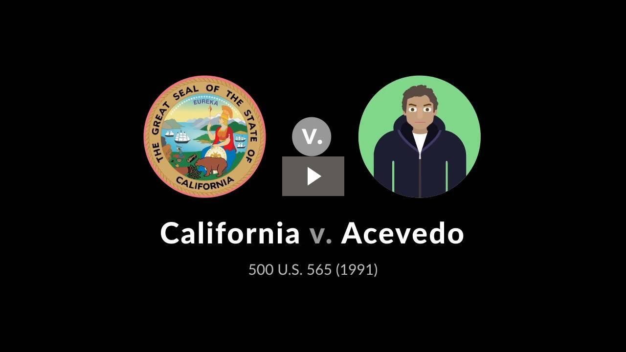 California v. Acevedo