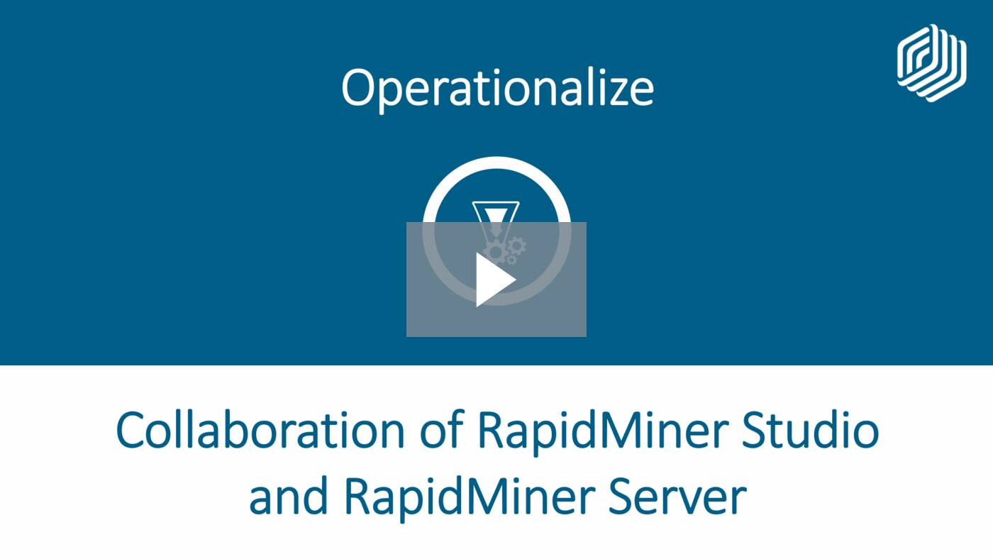 Collaboration of RapidMiner Studio and Server