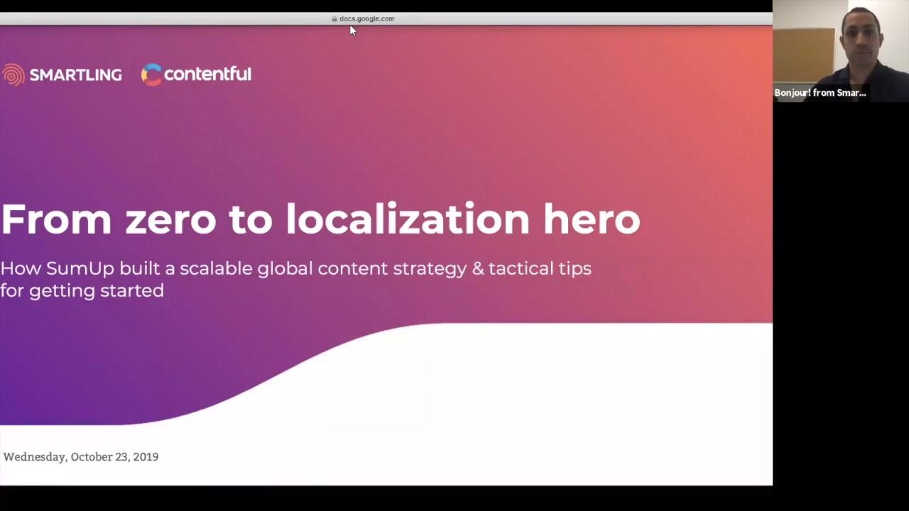 [2019-10-23] Smartling/SumUp webinar: From zero to localization hero