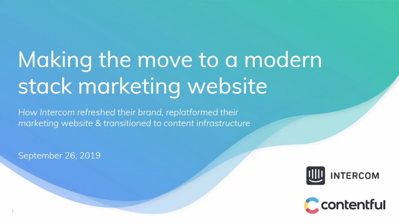 [2019-09-26] Making the move to a modern stack marketing website