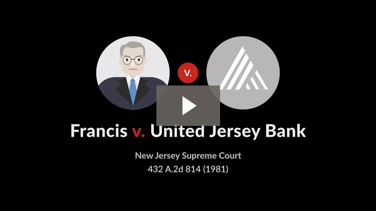 Francis v. United Jersey Bank
