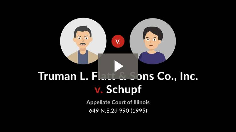 Truman L. Flatt & Sons Co. v. Schupf
