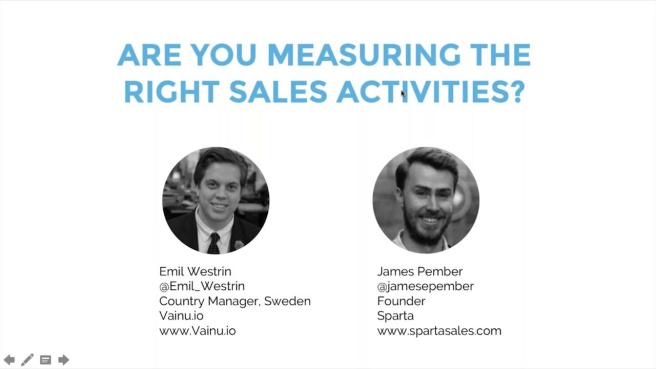 Measure the Right Activities in Sales