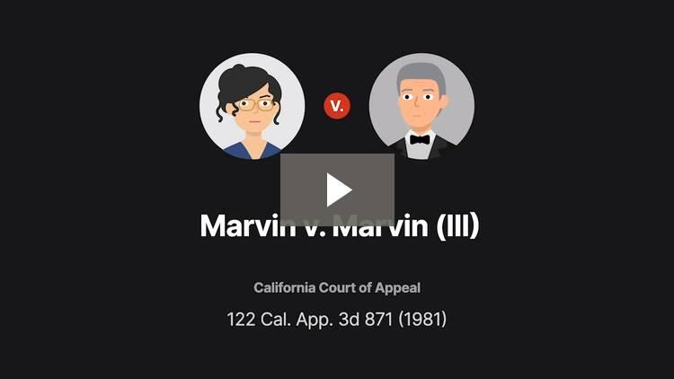 Marvin v. Marvin (III)