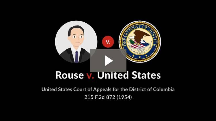 Rouse v. United States