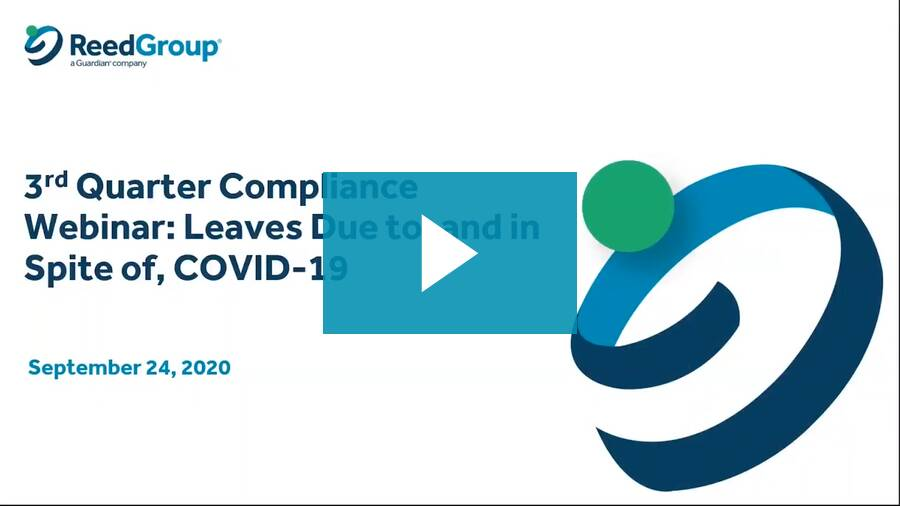 Compliance Webinar: Leaves Due To, and In Spite Of, COVID-19