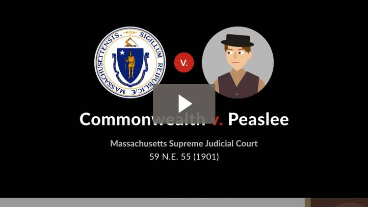 Commonwealth v. Peaslee