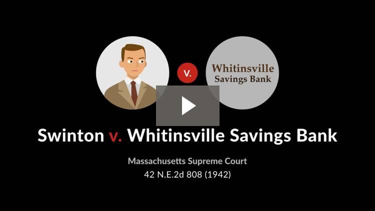 Swinton v. Whitinsville Sav. Bank