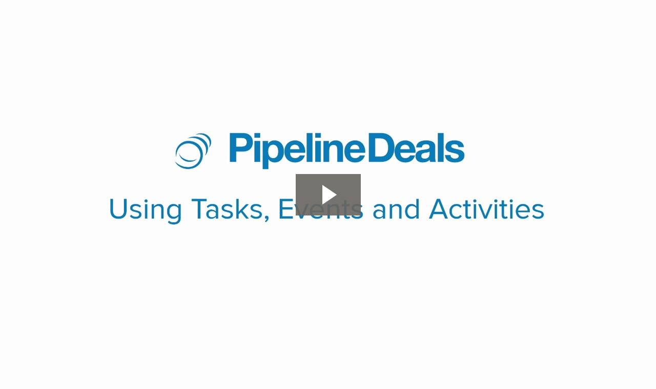 Video: using tasks, events and activities