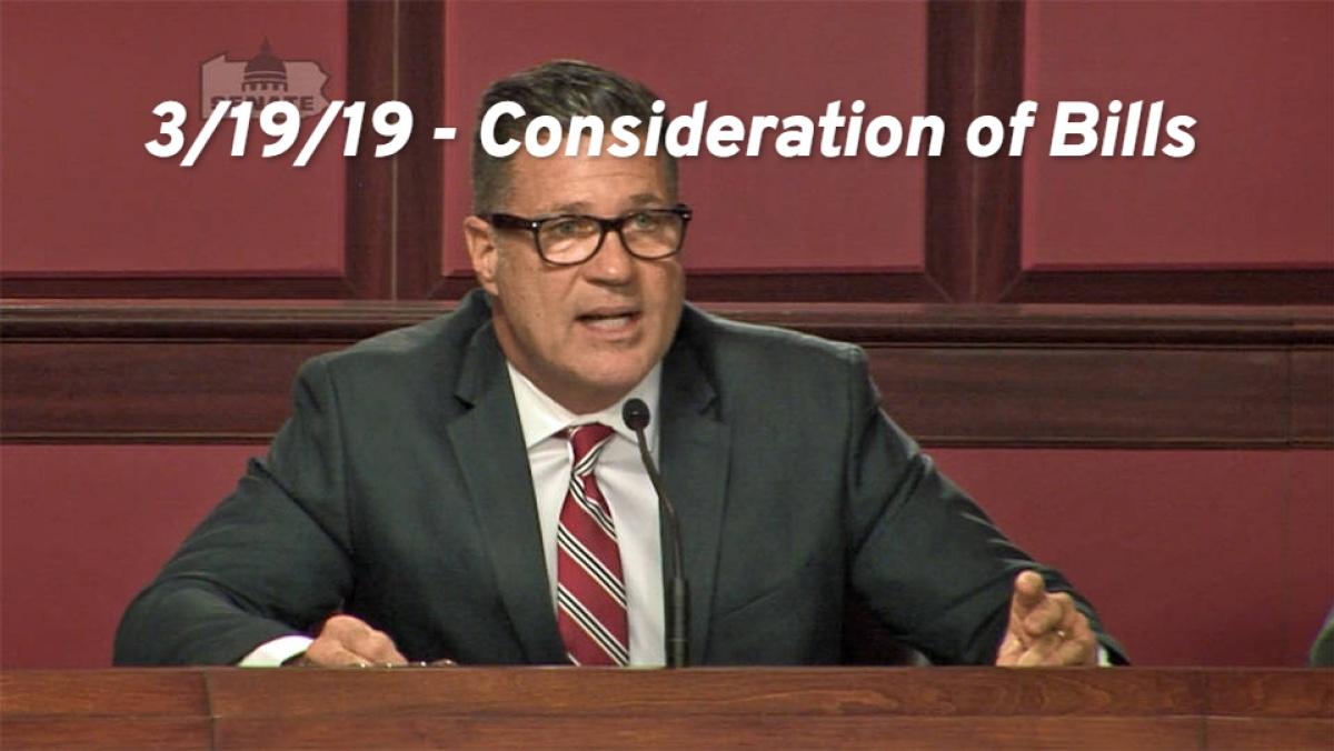 3/19/19 – Consideration of Bills