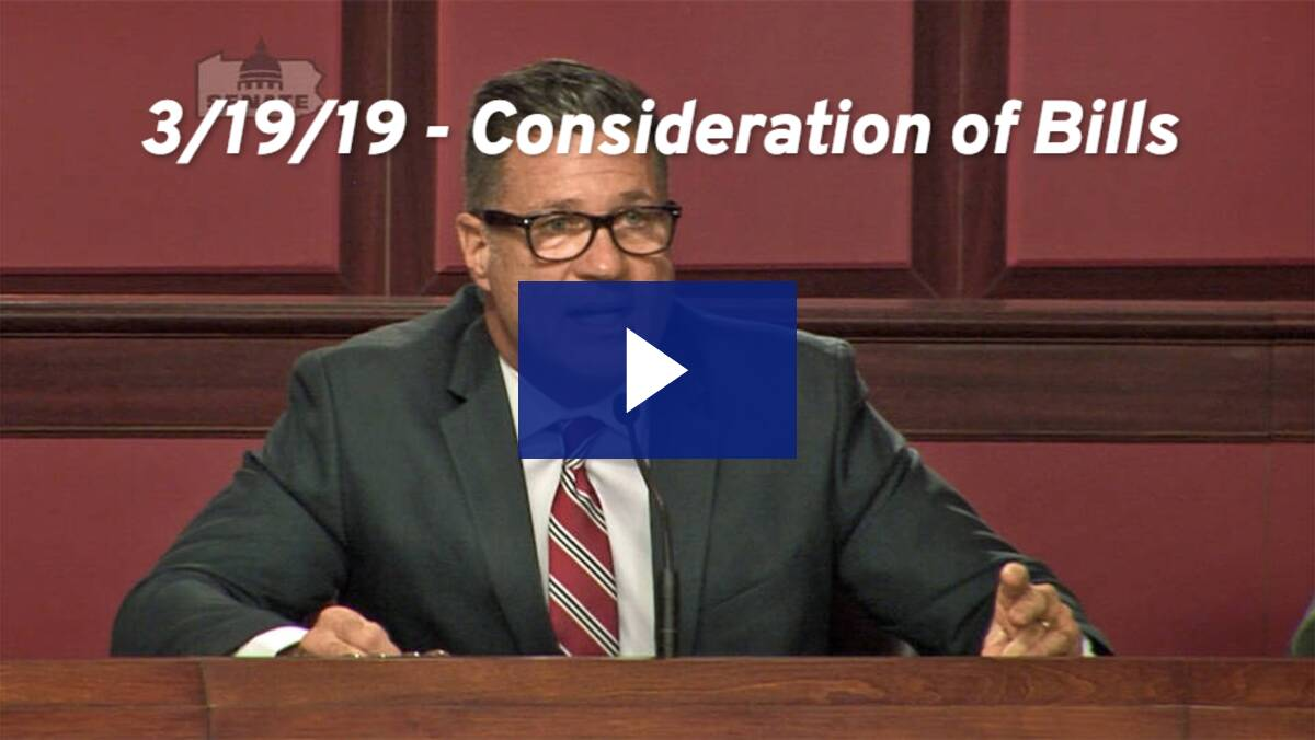 3/19/19 – Consideration of Bills