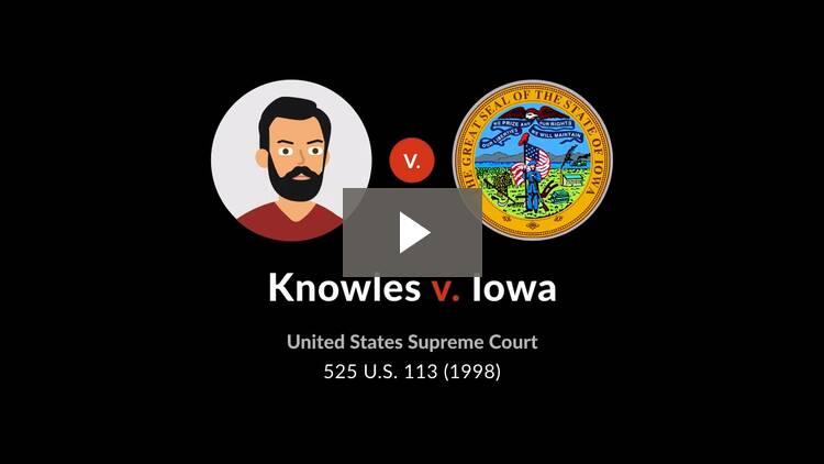 Knowles v. Iowa